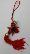 Red Feng Shui Elephant with Chilli Peppers Tassel