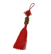 Red Chinese Knot 3 Coin Emporer Tassel by The Fortune Tassel. Bring the 3 Heavenly Blessings to your home with the 3 Coin Chinese Knot Tassel.