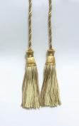 Beige Multi Tone Double Tassel / Tassel Tie with 10cm inch Tassels / Spread 70cm ,Style# CDCT colour