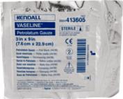 Kendall Healthcare Vaseline Sterile Nonadherent Petrolatum Gauze Strip 7.6cm W x 23cm L