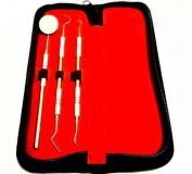 Dental Tarter Scraper and Remover Set Stainless Steel+ Free Pouch