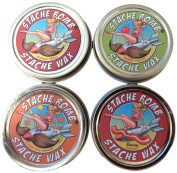 Stache Bomb Stache Wax- Moustache Wax From Maine- Variety Pack