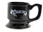 Col Ichabod Conk Black Ceramic Shaving Mug on Pedestal