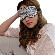eYourlife2012 100% Pure Silk Filled Eye Mask Sleeping Mask Eyepatch Blinder Print
