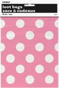 Hot Pink Polka Dot Favour Bags, 8ct