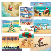Beach Christmas Card Variety Pack - 24 cards & envelopes
