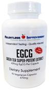 EGCG Green Tea Extract, 409mg EgCG Per Capsule, 90 Vege-Capsules, Decaffeinated. Ultra-pure, Ultra-potent, 100% Natural
