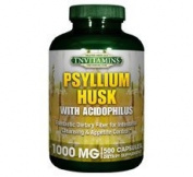 Psyllium Husk 1000 Mg Capsules - 500 Capsules