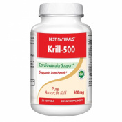 Krill oil 500mg 120 Softgels - 100% Pure Cold Pressed Antarctic Krill Oil - Highest Levels of Omega-3s in the Industry - Contains High Concetration of Astaxanthin - Higher in Omega 3 than Fish Oil - Great for Maintaining Cardiovascular Health* - Suppor ..