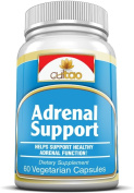 Premium Adrenal Support Supplements w/ Siberian Eleuthero Root Extract, Ashwagandha Root Extract, Rhodiola Rosea Root Extract, L-Tyrosine And Vitamin C & B6 - 100% Natural w/ Herbals To Fight Adrenal Fatigue - 60 Vcaps - Vegetarian Formula