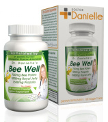 Dr. Danielle's Bee Well (Royal Jelly 1500mg, Propolis 1000mg, Beepollen 750mg) in 4 Daily Capsules