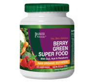 Berry Green Superfood with Goji, Acai & Raspberry, Raw Organic Nutrition- Vegan & Gluten Free - 240 Grammes