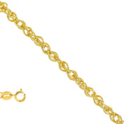 """14K Yellow Gold 0.9 mm Ropa Chain Necklace 18"""" w/ Spring Ring Clasp"""