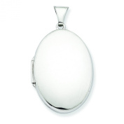 Sterling Silver Polished 32mm 2-Frame Oval Locket