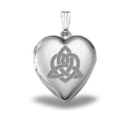 "Sterling Silver "" Sisters Love "" Celtic Heart Locket 1.9cm X 1.9cm"