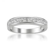 Platinum Princess-cut Diamond Bridal Wedding Band Ring