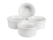 Bia Cordon Bleu White Porcelain 120ml Custard Cup, Set of 4