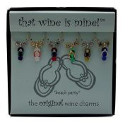 Wine Things WT-1464P Beach Party Wine Charms, Painted