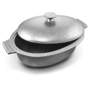 Wilton Armetale Gourmet Grillware Chilli Pot with Lid, Oval, 18cm by 24cm by 38cm , 3.8l