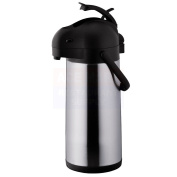 Chef's Supreme - 3 L Black Stainless Airpot w/ Lever