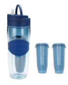 ZeroWater ZB-M01 Travel Filter Bottle with 2-Pack Replacement Filters