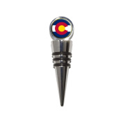 Colorado State Flag Wine Bottle Stopper Cork