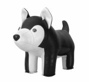 Zuny Classic Husky Animal Bookend - Black