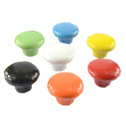 Set of 7 38mm Colourful Ceramic Cabinet Knob Drawer Pull Handle