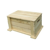 Lohasrus Kids Patio Toy Chest MM20501, ASTM F963-07, Unfinished Fir, for  .   to 6, free Drawing Book