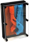 Large Pin Prints _ Pin Art _ Image Captor in Neon Orange and Blue