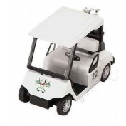 Toy / Game Kinsmart White Pull Back Golf Cart Superior With Plastic Parts - For Pullback Motor Action