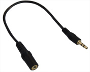 YCS Basics Smartphone / Stereo Headset & Microphone to Stereo Headphone Adapter Cable