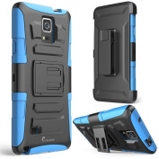 Galaxy Note 4 Case, i-Blason Prime Series Dual Layer Holster For Samsung Galaxy Note 4 [SM-N910S] with Kickstand and Locking Belt Swivel Clip