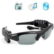 Dv88 Camera+video+mp3+bluetooth Sunglass 1.3mage Recording Speed 30fps Black 8G