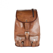 81stgeneration Genuine Vintage Leather Rucksack Daypack City Shopping Campus Bag