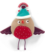 Mamas & Papas Christmas Chime Clip On Robin Toy For Car Seats/Strollers/Prams