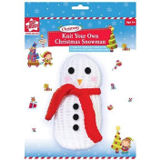 Knit Your Own Christmas Snowman Set