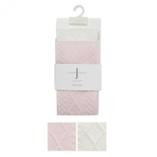Designer Babies Cream And Pink Pack Of Two Cable Knitted Tights 3-6 Months