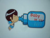 1 x Baby in Car Decals Self-adhesive Stickers