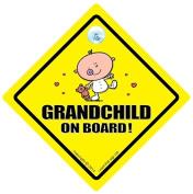 Grandchild on Board Car Sign, Grandchild on Board, Grandchild on Board New Bear, Baby On Board, Unisex Baby on Board, New Bear Car Sign, Baby Sign, Car Sign, Baby On Board, Baby Car Sign, Bumper Sticker, Grandchildren Car Sign