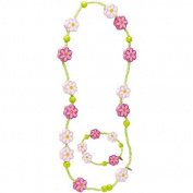 Haba Flower Necklace & Matching Bracelet - Flower Necklace & Matching Bracelet