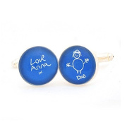Child's Artwort Cufflinks - Blue