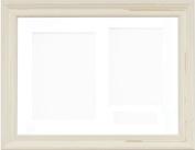 BabyRice 29cm x 22cm Shabby Chic effect Ivory Cream 3D Display Frame / White 3 hole mount & Backing