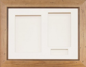 BabyRice 29cm x 22cm Rustic Pine Wood 3D Display Frame / Cream 3 hole mount & Backing
