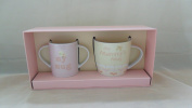 BABY BOUTIQUE BABY GIFTS - MUMMY & BABY MUG GIFT SET PINK 50991