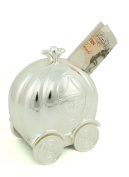 Baby Gift - Silver Plated Pumpkin Coach Money Box