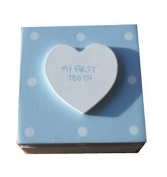 My First Tooth Keepsake Box Baby Boy Blue Polka Dot Perfect Gift