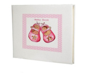 baby record book,baby memory book,baby girl gift,pink shoes