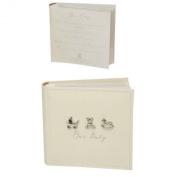 Bambino by Juliana Linen Fabric Baby Photo Album - 250cm x 15cm x 10cm Prints