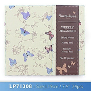 flutterbyes weekly organiser one supplied